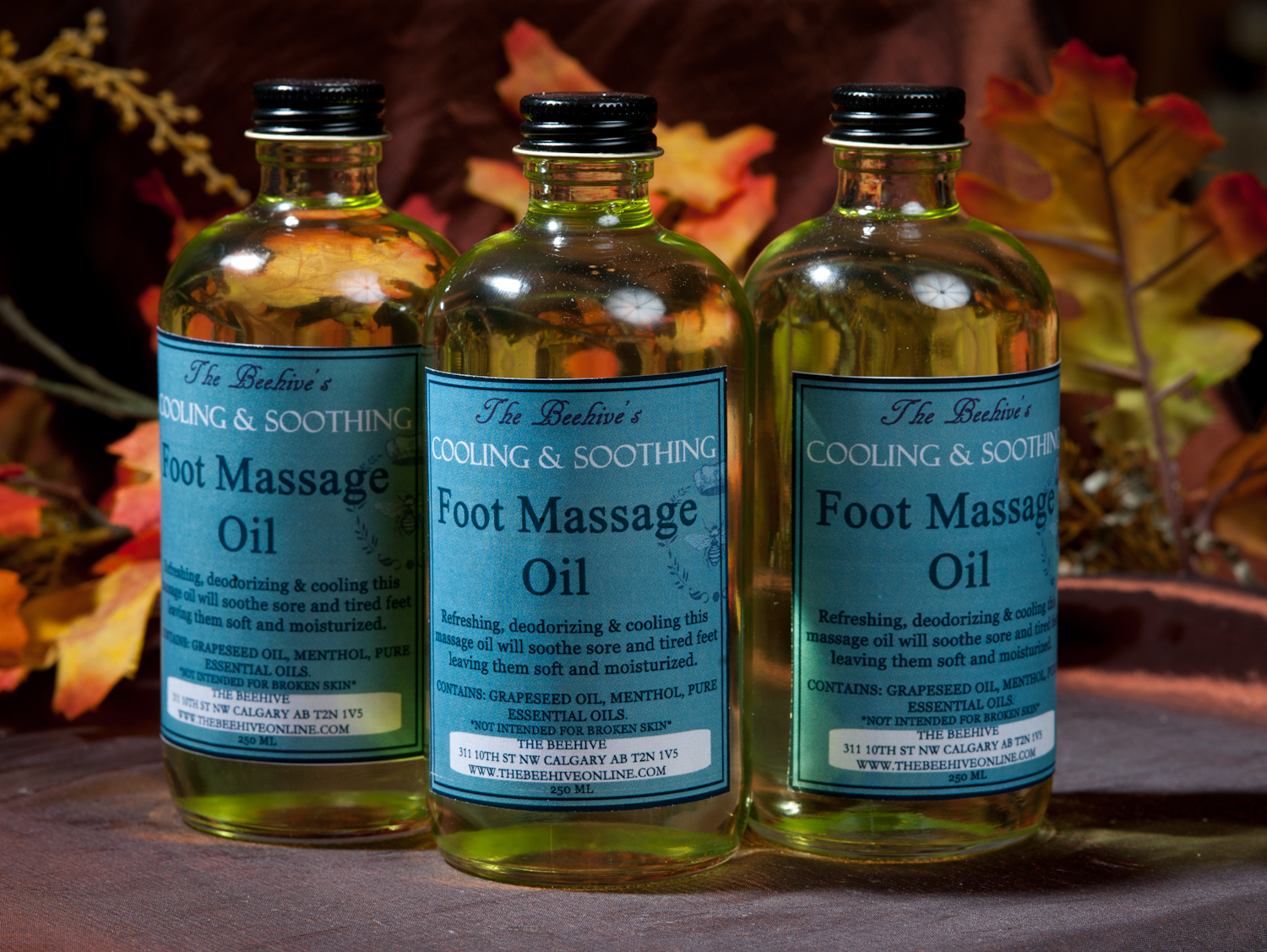 Cooling & Soothing Foot Massage Oil