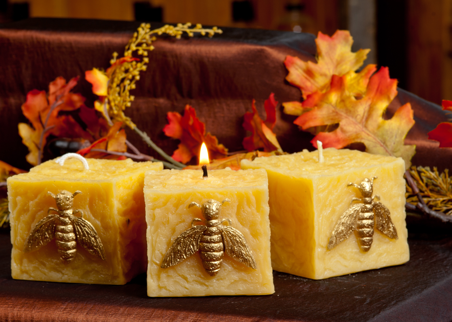 Square Bee Candle